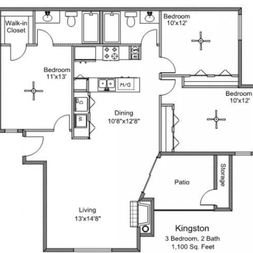 1 Bed / 1 Bath Apartment In Lewisville TX