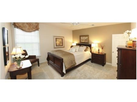 Spacious Master Bedroom with Ceiling Fan