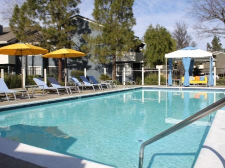 Sparkling Pool | Apartments In Davis | The Edge 1