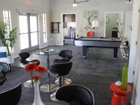 Resident Pool Table | Davis Apartments For Rent | The Edge