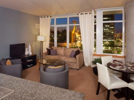 Spacious Living Room | Portland Apartments | Riva on the Park