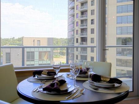 Elegant Dining Room | 1 Bedroom Apartments Portland | Riva on the Park