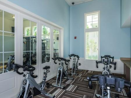 Fitness Room at Evander Square Apartments