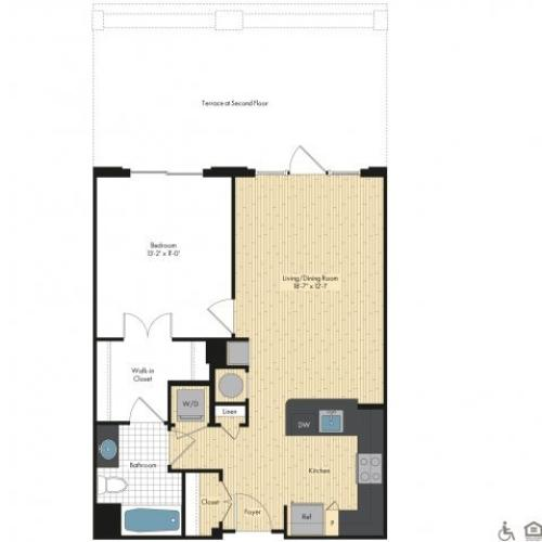 Floor Plan 7 | Apartments For Rent In Bethesda Maryland | Upstairs at Bethesda Row