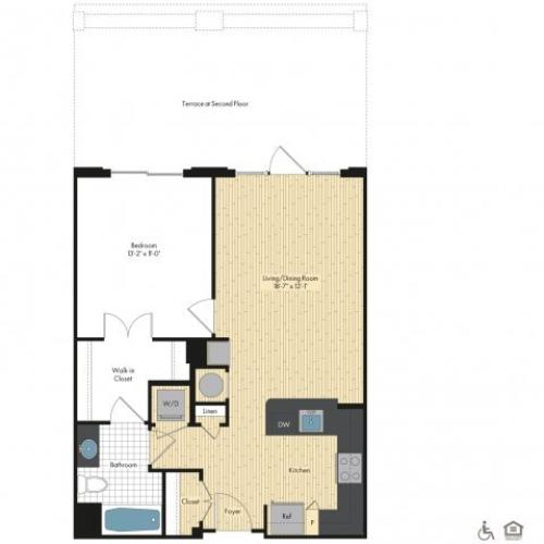 Floor Plan 8 | Luxury Apartments In Bethesda MD | Upstairs at Bethesda Row