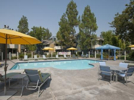 Sparkling Pool | Apartments In Davis | The Edge 2