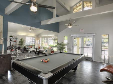 Residents Playing Billiards | Apartments For Rent Davis CA | The Edge