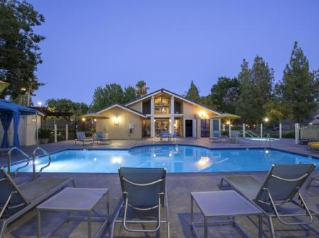 Sparkling Pool | Apartments In Davis | The Edge