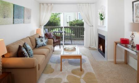 Luxurious Living Room | Apartments Hillsboro OR | Jackson School Village