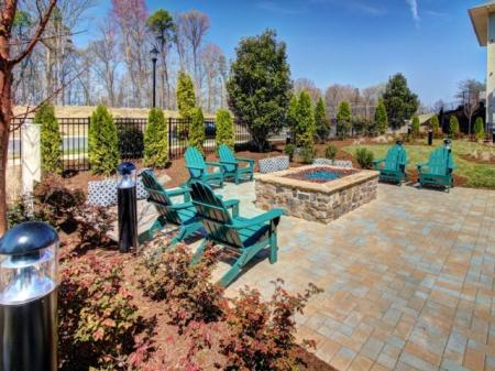 Resident Fire Pit | Luxury Apartments For Rent In Charlotte NC | Alexander Village