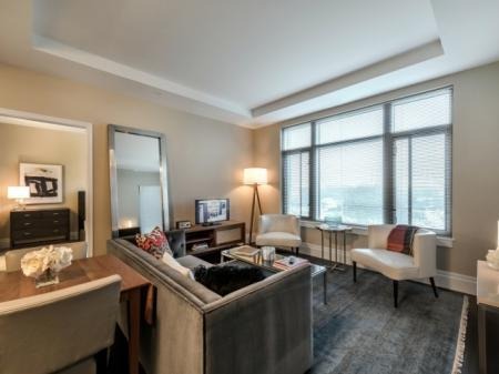 Elegant Living Room | Apartments For Rent In North Bethesda MD | Pallas at PikeRose