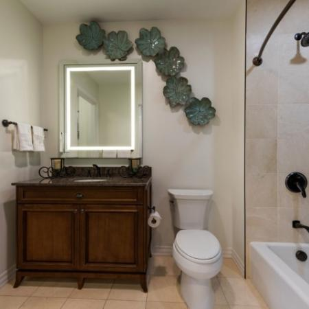 Spacious Bathroom | Apartments For Rent In Bethesda MD | Pallas at PikeRose 1