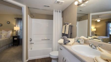 Spacious Master Bathroom | Apartments For Rent In Orlando | Belmont at Park Central