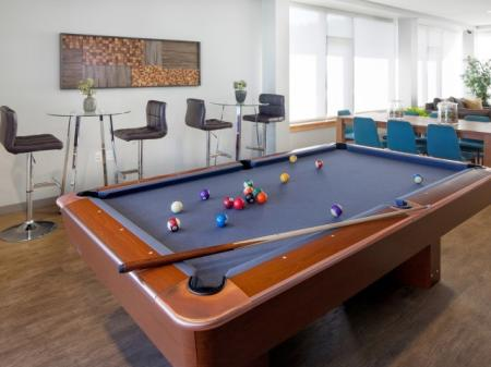 Community Game Room | Studio Apartments Portland | Riva on the Park
