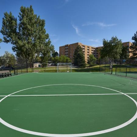Sports Court | Apartments in Denver Colorado | Dayton Crossing