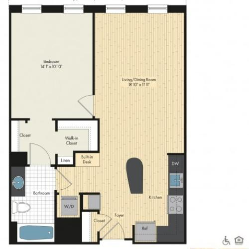 Floor Plan 12 | Apartments For Rent In Bethesda Maryland | Upstairs at Bethesda Row
