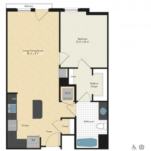 Floor Plan 18 | Luxury Apartments In Bethesda MD | Upstairs at Bethesda Row