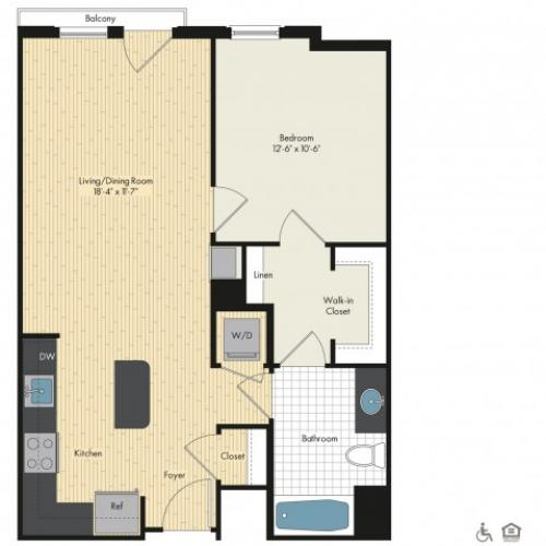 Floor Plan 24 | Bethesda Luxury Apartments | Upstairs at Bethesda Row