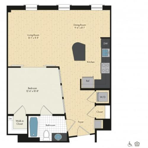 Floor Plan 15 | Luxury Apartments In Bethesda | Upstairs at Bethesda Row