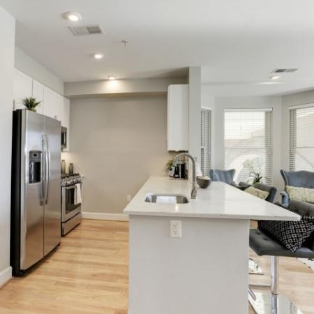 Spacious Dining Area | Luxury Apartments In Bethesda Maryland | Upstairs at Bethesda Row