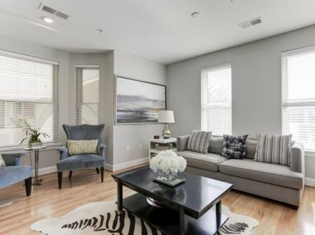 Elegant Living Room   Apartments For Rent In Bethesda Maryland   Upstairs at Bethesda Row