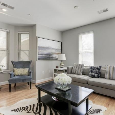 Elegant Living Room | Apartments For Rent In Bethesda Maryland | Upstairs at Bethesda Row