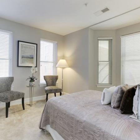 Elegant Bedroom | Luxury Apartments In Bethesda | Upstairs at Bethesda Row