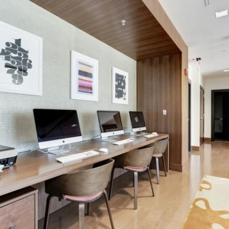 Resident Business Center | Luxury Apartments In Bethesda | Upstairs at Bethesda Row