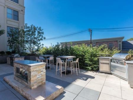 Community BBQ Grills   Luxury Apartments In Bethesda   Upstairs at Bethesda Row