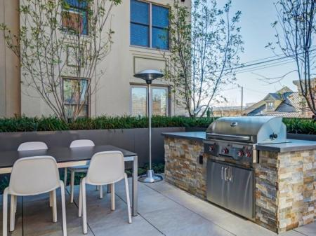 Resident BBQ   Luxury Apartments In Bethesda Maryland   Upstairs at Bethesda Row