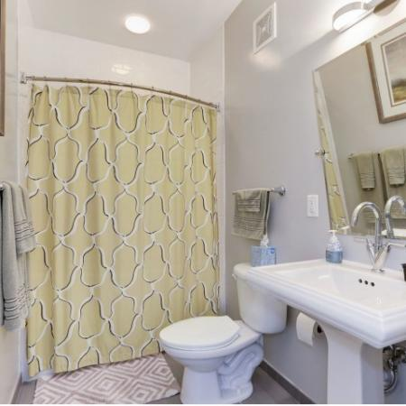 Spacious Bathroom | Luxury Apartments In Bethesda | Upstairs at Bethesda Row