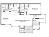 Two Bedroom Floorplan | The Lakes at Windward 1