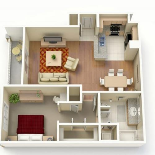 1 Bedroom Floor Plan | San Paloma