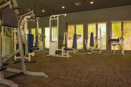 Fitness Center at The Lodge at River Park Apartments 3