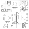 1 Bedroom Floor Plan | Vail Quarters 4