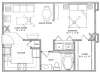 1 Bedroom Floor Plan | Vail Quarters