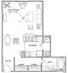 Studio Floor Plan | Vail Quarters 3