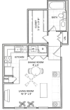 Studio Floor Plan | Vail Quarters 2