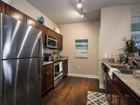 stainless steel appliances at Town Center at Lakeside Village Apartments in Lakeland Florida