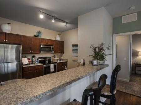 Lakeland Florida apartments for rent - Town Center at Lakeside Village Apartments kitchen with stainless steel appliances