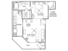 1 Bedroom Floor Plan | Vail Quarters 3