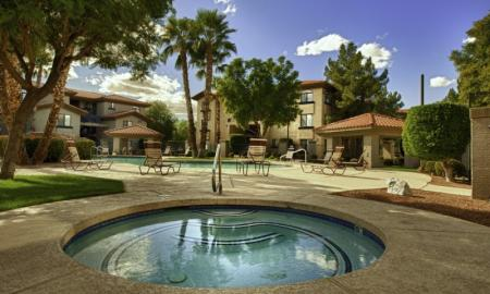 Sparkling Pool | One Bedroom Apartments In Tempe | The Palms on Scottsdale