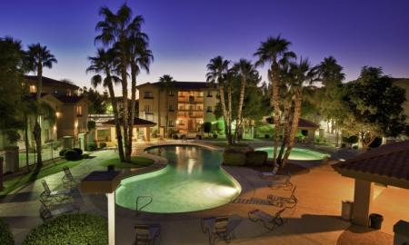 Pool Lighting | One Bedroom Apartments In Tempe | The Palms on Scottsdale