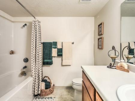 Residents in the Bathroom | Apartments In Boise | River Pointe