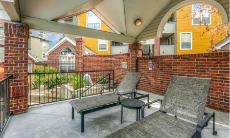 Resident Lounge by the Pool | Northglenn Apartments For Rent | Keystone Apartments
