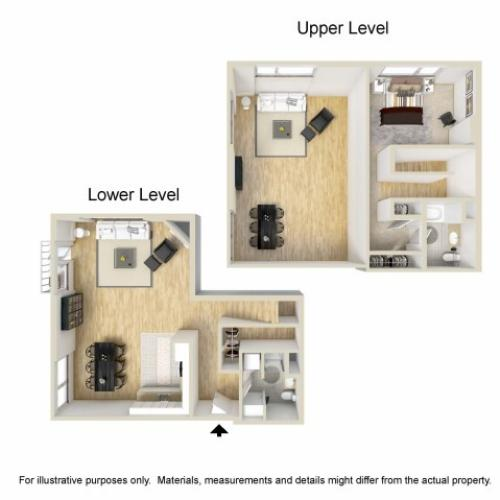1 Bedroom Floor Plan | Museum Place5