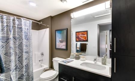 Spacious Bathroom | Bellevue Washington Apartments | LIV