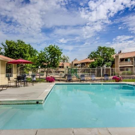 Residents Playing in the Pool | Denver Colorado Apartments | Santana Ridge