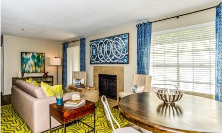 Spacious Living Room | Apartment In Alpharetta GA | The Lakes at Windward