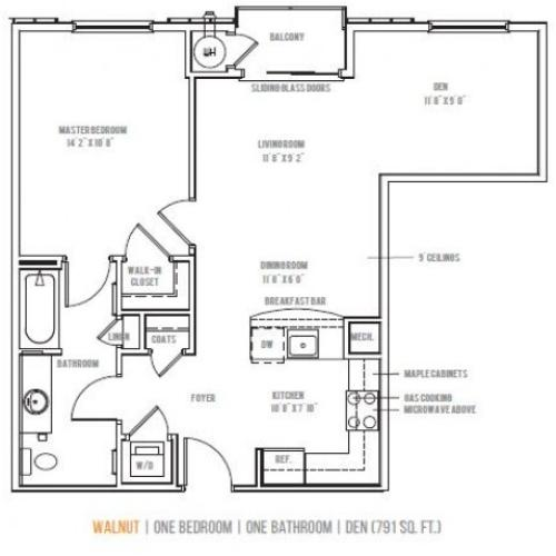 Floor Plan 3 | Lofts at Valley Forge